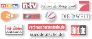 Vox Pro7 RTl n-tv Focus Bild.de Die Welt ZDF